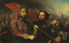 Дмитрий Пожарский (слева)