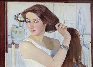 Зинаида Серебрякова, фрагмент автопортрета (1909, )