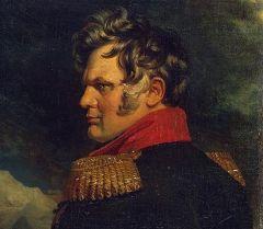 Портрет Алексея Петровича Ермолова работы Джорджа Доу (фрагмент картины)