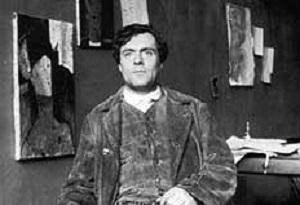 Модильяни, фрагмент автопортрета (1918)