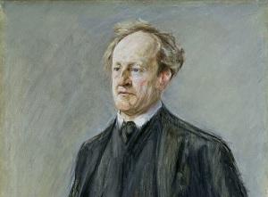 Портрет Герхарта Гауптмана работы М.Либермана, 1912 год,