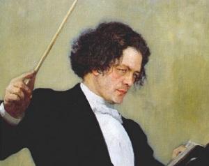 Портрет Рубинштейна работы Ильи Репина (1887, )