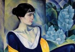 Портрет Анны Ахматовой работы Н.Альтмана (фрагмент)