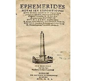Титульный лист книги Ретика «Эфемериды»