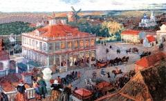 Дом Анны Монс в Немецкой слободе на картине Александра Бенуа