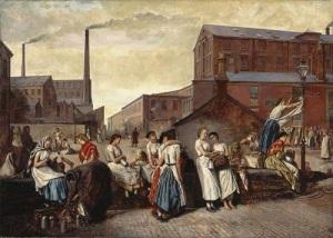 """Картина Айра Кроу """"Обеденный перерыв в Уигане"""" (1874)"""