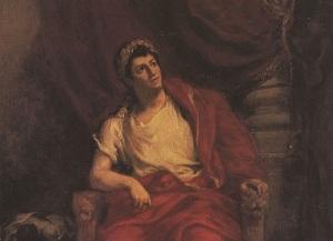 Франсуа-Жозеф Тальма в роли Нерона (Картина работы Э.Делакруа, )