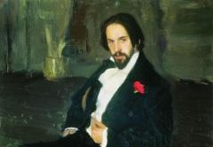 Портрет Ивана Билибина работы Б.Кустодиева (1901)