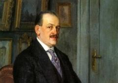 Николай Богданов-Бельский (Фрагмент автопортрета, 1915)