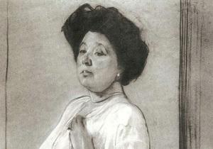 Портрет Надежды Ламановой работы Валентина Серова (1911, )